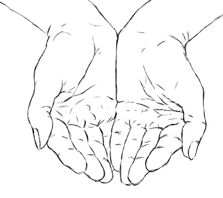 hands cupped: cupped hands