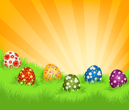 Background with Easter eggs Illustration
