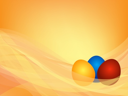 Abstract background with three Easter eggs