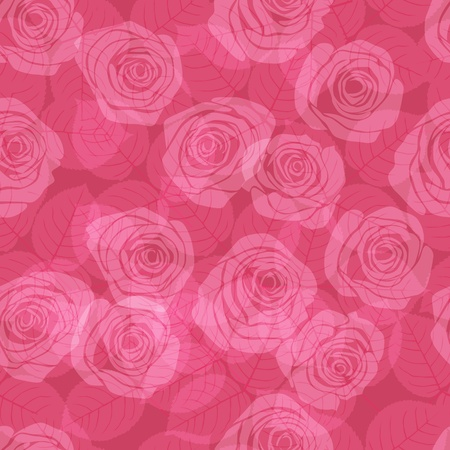 rose bush: seamless pattern  with pink  roses
