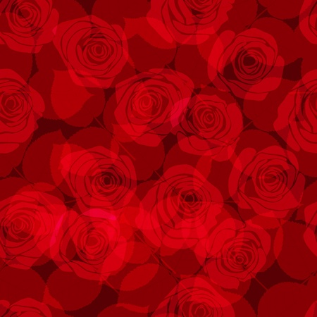 translucent: seamless pattern with red roses