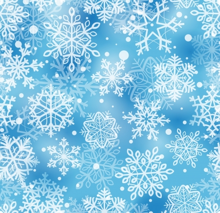 snow falling: seamless pattern with snowflakes