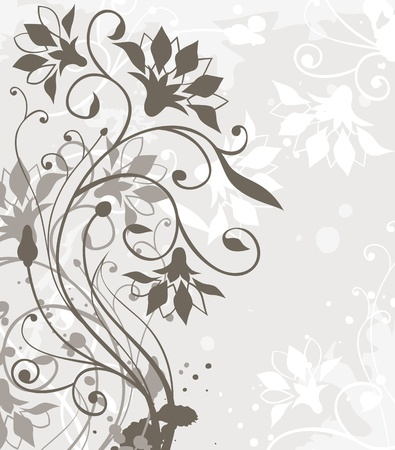 abstract background with floral elements Stock Vector - 9865559