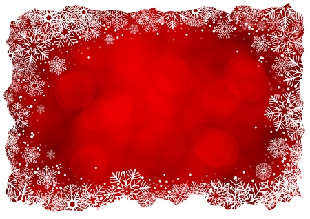 Christmas background with frame of snowflakes Stock Illustratie