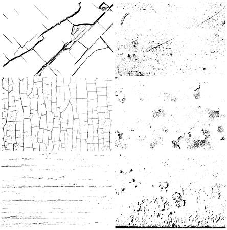 set of 6 grunge textures  Stock Illustratie