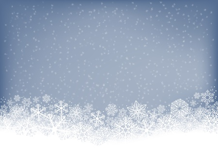 neige qui tombe: Fond d'hiver avec des chutes de neige Illustration