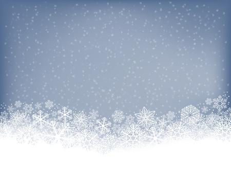 schneeflocke: Winter Hintergrund mit fallendem Schnee