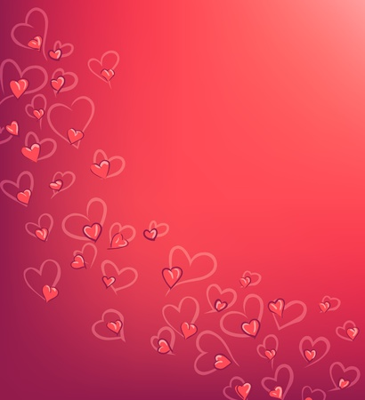 pink Valentine s day background Vector