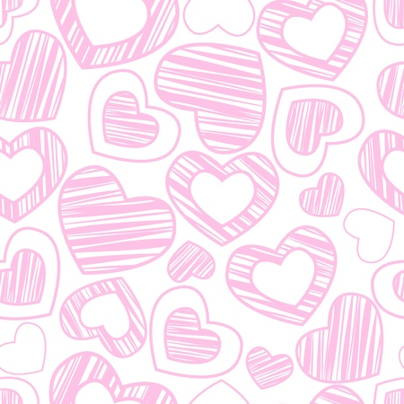 seamless pattern with pink hearts Stock Vector - 11877050