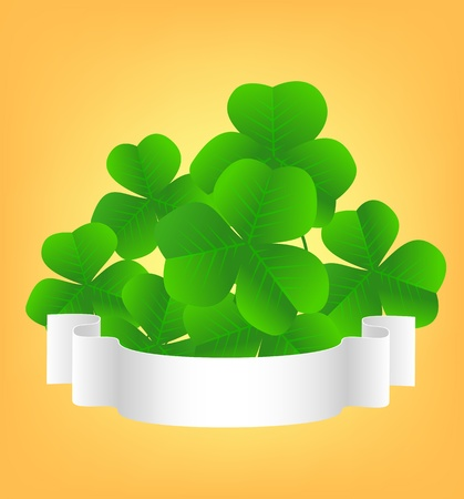 St. Patrick day card with clovers and scroll Stock Vector - 12248168