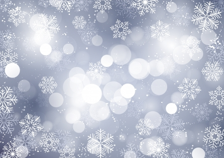Winter background with falling snow Stock Illustratie