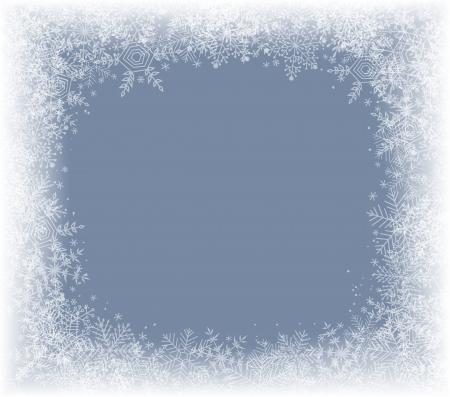 snow falling: Inverno sfondo con cornice di fiocchi di neve Vettoriali