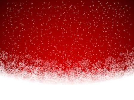 neige qui tombe: Winter background avec des chutes de neige Illustration