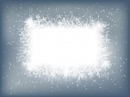 neige qui tombe: Winter background avec des branches de sapin et la neige qui tombe