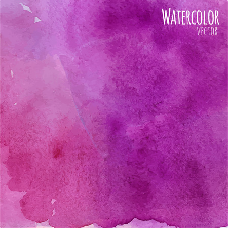 aquarelle painting art: Abstract watercolor background in purple and red colors with space for text.