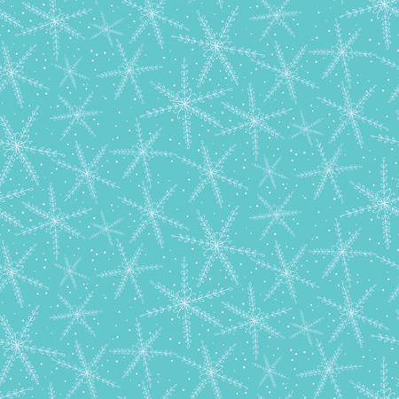 pattern background: Seamless pattern with hand drawn snowflakes. Christmas background. Illustration