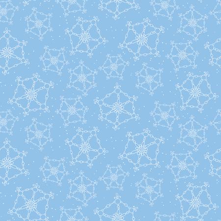 hintergrund: Nahtlose Muster mit Hand gezeichneten Schneeflocken. Weihnachten Hintergrund. Illustration