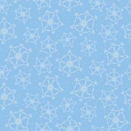 winter holiday background: Seamless pattern with hand drawn snowflakes. Christmas background. Illustration