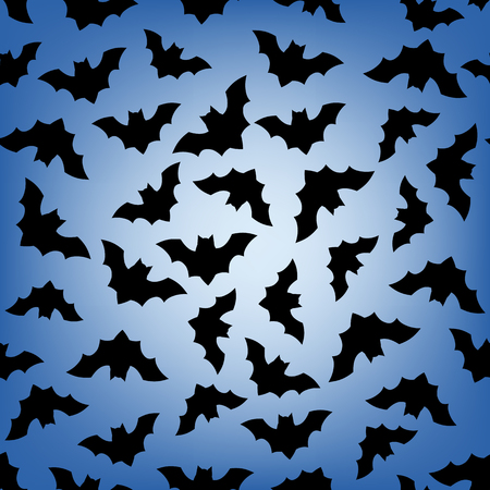 all saints day: Seamless pattern with flying bats. Halloween background. Illustration