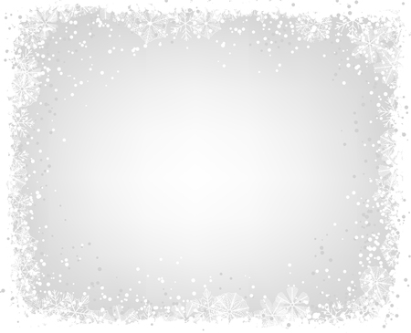 Christmas background. Frame made of snowflakes with space for text