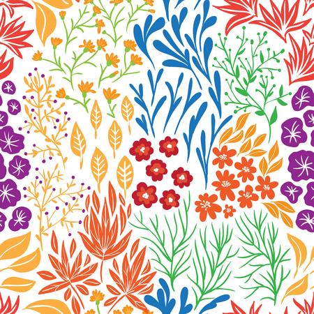 Nahtloses Blumenmuster in der Gekritzelart. Hintergrund für Design. Standard-Bild - 85119471