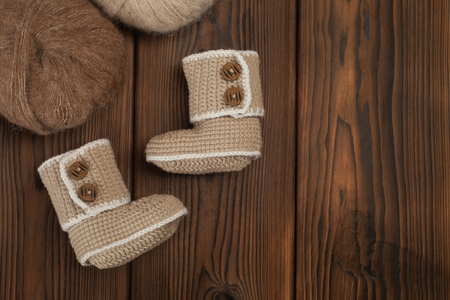 Handmade gift for winter, knitted booties for cold day, make warm