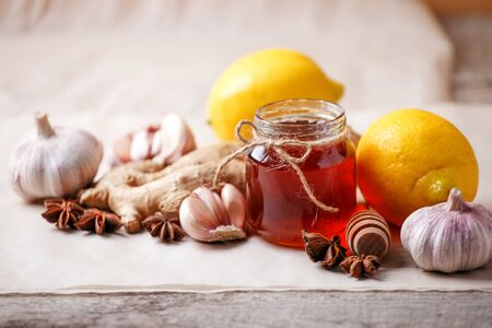 Homemade antimicrobial therapy. Stockfoto