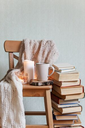 Hygge and cozy home concept