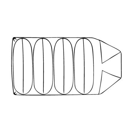 Soap in a pack in doodle style. Hand drawn vector image for website, banner, card, designer. Illustration