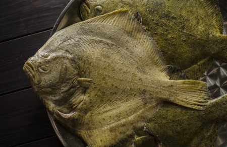 raw cleaned whole flounder fish ready for cooking Stock Photo