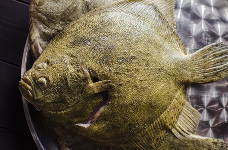 raw cleaned whole flounder fish ready for cooking Stock fotó