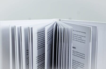 Paper book pages, abstraction as a background