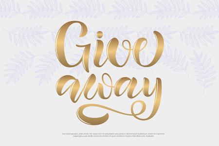 Sketched curve typography text for online website. Promo banner for girl blogger with lettering