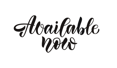 Hand sketched lettering typography for webpage, internet site of women clothes, flowers, souvenirs, accessories, shoes. Illustration EPS 10 for blog icon. Promotional banner for market, store, catalog