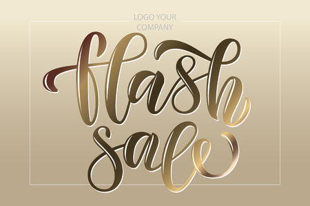 Hand drawn promotional design for banner on website, clothes store. Drawn art sign. Illustration