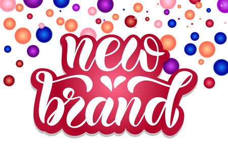 Hand drawn vector calligraphy text poster for promotion, new collection, women internet website. Concept of advertising for girl shop of clothes, accessories, shoes, watches, bags, souvenirs, flowers Çizim