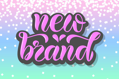 Drawn art vector calligraphy logotype for women internet site of clothes, blog icon, advertisement of promotion, modern concept for poster, card, design,template for girlie beauty web page,email offer