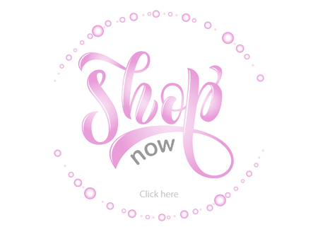 Sketched vector typography text as label online website. Promotion banner for blogger, girl clothes, souvenir, shoes, accessories internet shop. Feminine illustration, email card, marketing design Çizim