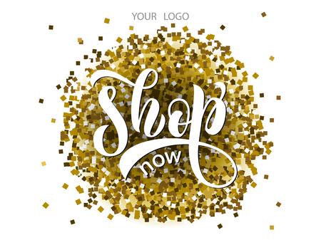 Sketched vector typography text as label online website. Promotion banner for blogger, girl clothes, souvenir, shoes, accessories internet shop. Feminine illustration, email card, marketing design Stok Fotoğraf - 103783441