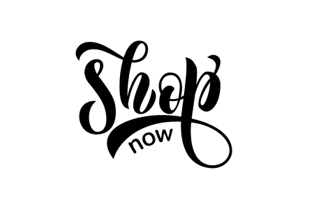 Sketched vector typography text as label online website. Promotion banner for blogger, girl clothes, souvenir, shoes, accessories internet shop. Feminine illustration, email card, marketing design Ilustrace