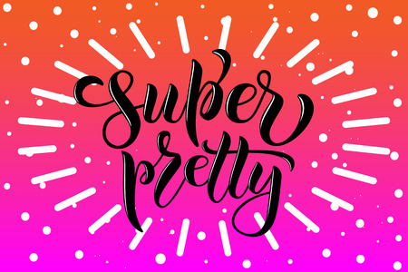 Drawn art vector calligraphy logotype for women internet site of clothes, blog icon, advertisement of promotion, modern concept for poster, card, design,template for girlie beauty web page,email offer Stok Fotoğraf - 103783479