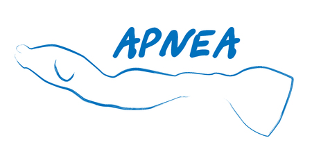 freediver: silhouette of freediver apnea Illustration