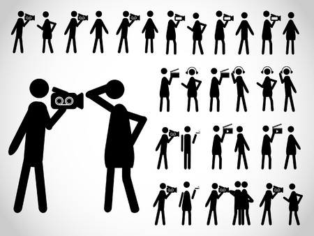 Pictogram of the people  Illustration