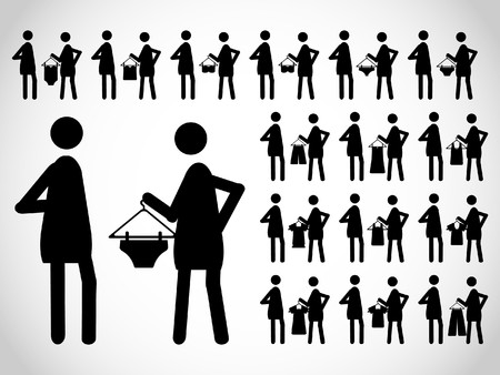 Pictogram of the people  Stock Vector - 7578264