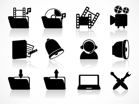 directory book: Media icons set