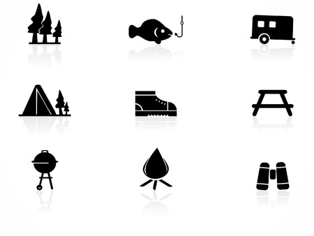 Camping icon set Stock Vector - 7613146