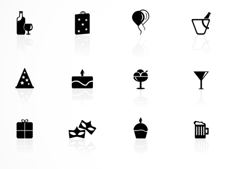 Birthday icons set Stock Vector - 7698636