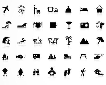 hiking: Travel icons set