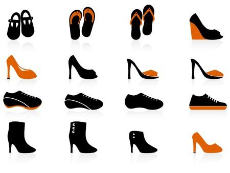 Schuhe Icons set