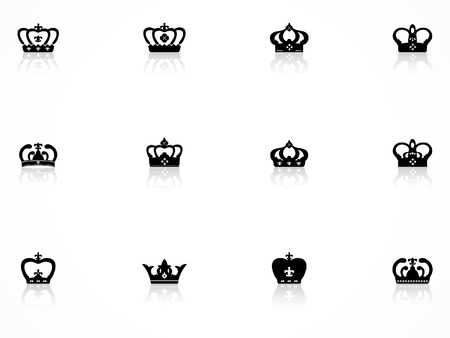 aristocracy: Crown icons set